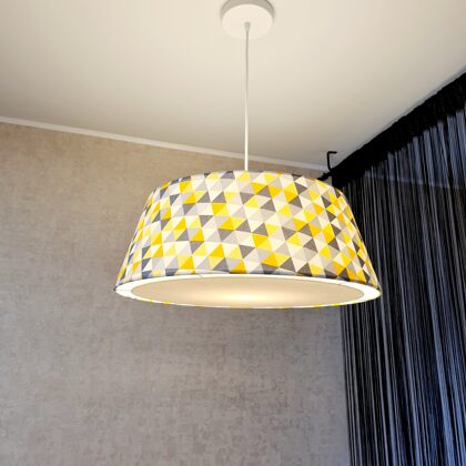 Konusveida griestu lampa ar slēgto apakšu un diametriem D40 D50 H19cm