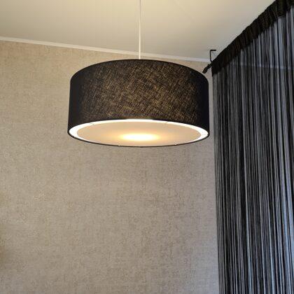 Apaļās formas lampa ar slēgto apakšu un D50 H18cm