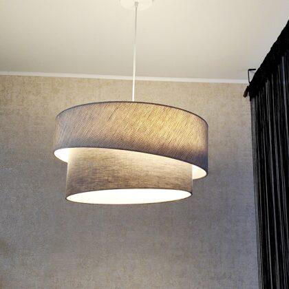 """2-līmeņu slīpā """"tortītes"""" formas griestu lampa, ar D50 D40 cm"""