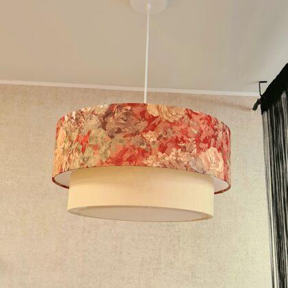 """2-līmeņu """"tortītes"""" formas lampa, ar diametriem D50 D40 cm"""